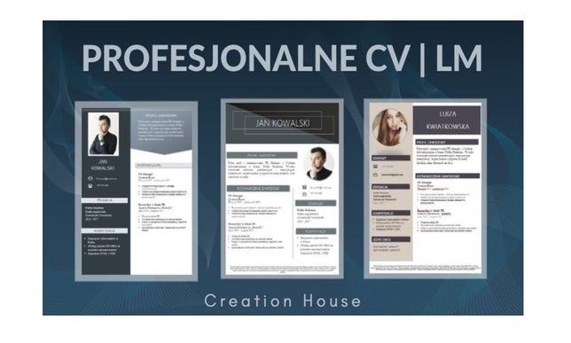 Pisanie CV i listów motywacyjnych od 49zł | CV + LM |