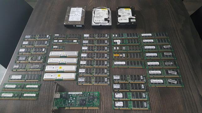 Części komputerowe - ram, karta sieciowa
