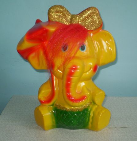 Копилка гипсовая Слоненок большая + подарок