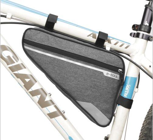 Вело сумка под раму треугольная B-SOUL 29*20*5см велосумка угловая