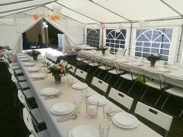 Namiot imprezowy cateringowy  krzesła stoły wynajmę   wypożyczę