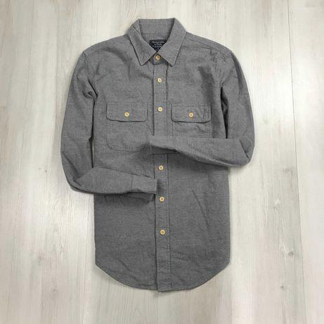 S-M Рубашка приталенная плотная темно-серая Abercrombie Fitch NewYork