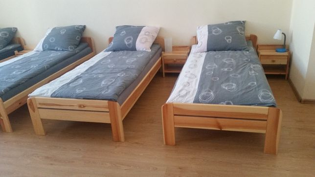 Łóżka drewniane + materac