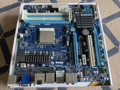 Motherboard Gigabyte A75M-UD2H com CPU AMD 3850 2.9GHz