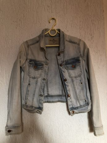 Krótka kurtka jeansowa zara r S
