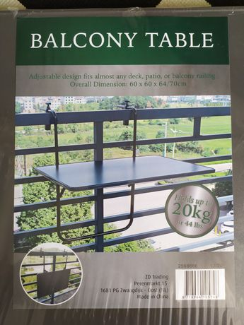 Stolik balkonowy wiszący