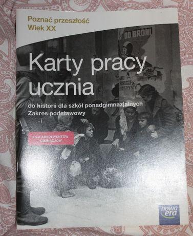 """NOWE Karty pracy 'Poznać przeszłość""""- 1 liceum- Nowa Era"""