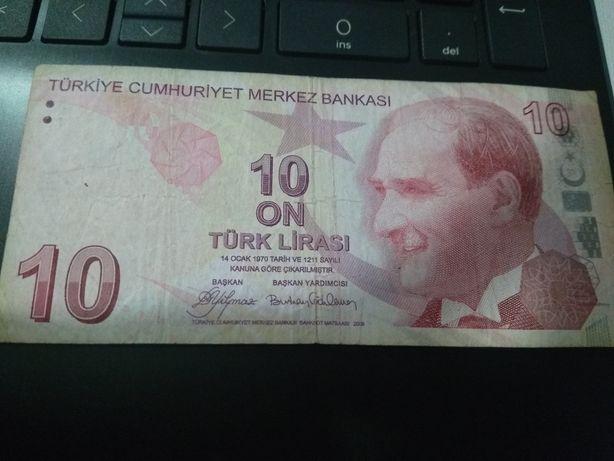 Nota de 10 LIRASI Turquia