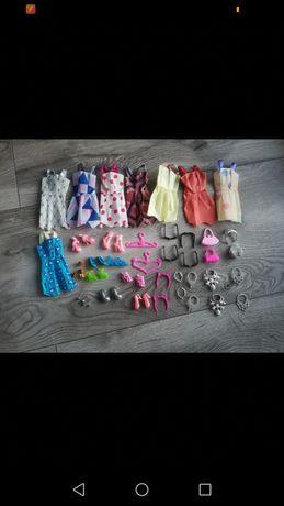 38 sztuk zestaw ubrań i gadżetów dla lalki Barbie i nie tylko