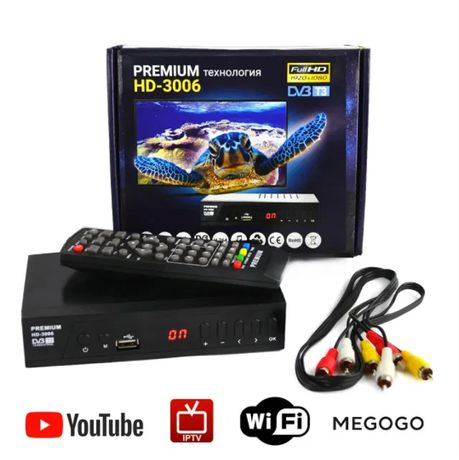 ТВ-тюнер DVB-T3 HD-3006 (цифровой ресивер для Т2 телевидения)
