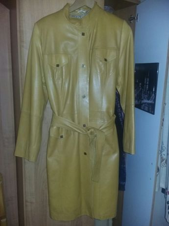 Płaszcz skórzany roz 38