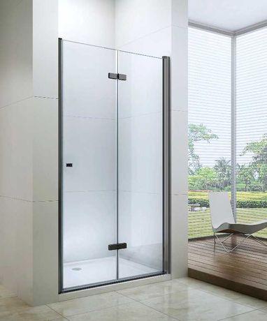 DRZWI prysznicowe SKŁADANE Czarne BLACK od 70 - do 120cm