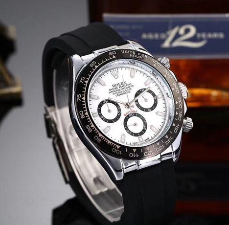 Piękny zegarek ROLEX DAYTONA biało czarny