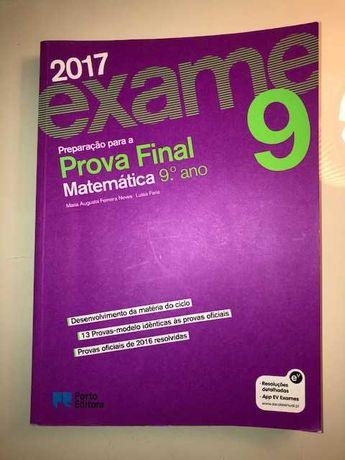 Exame Preparação para a prova Final Matemática 9° ano