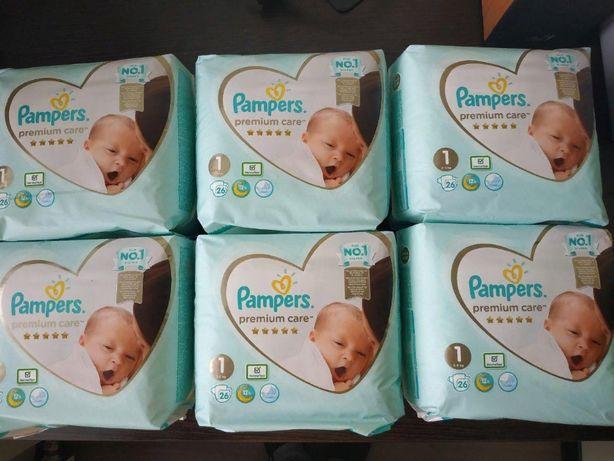 Подгузники Pampers Premium Care 1 размер (26 шт) новые