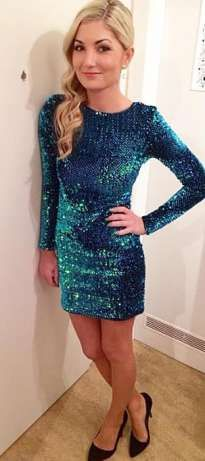 Sukienka cekiny S reserved mini sylwester