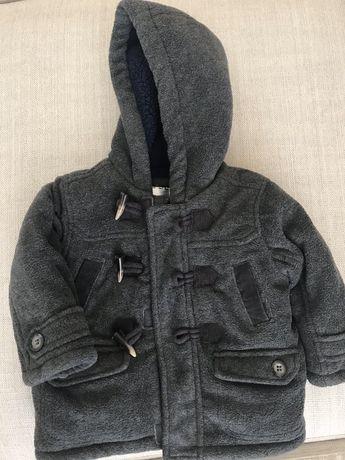 Пальто зимнее Mothercare+тёплая шапка