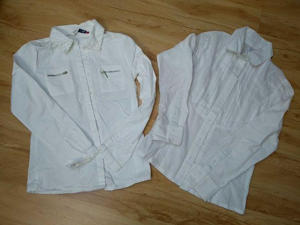 Rozm 146 zestaw 2 szt bluzki koszulowych, koszule białe Reserved