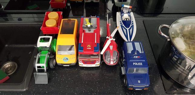 Playmobil autobus szkolny, traktor, wóz strażacki, radiowóz policyjny