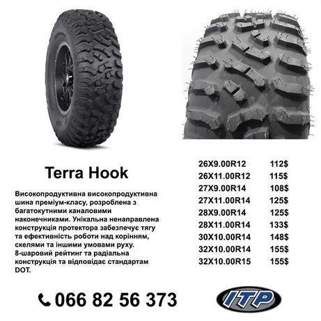 Шина, резина, колеса на квадроцикл ITP Terra Hook 26×9-R12