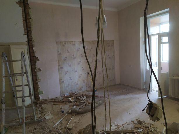 Демонтаж,паркет,плитка,стены,кирпич,бетон,потолок,штукатурка,гипс.фх
