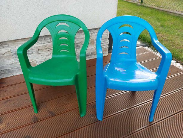 Krzesełka plastikowe 2 szt