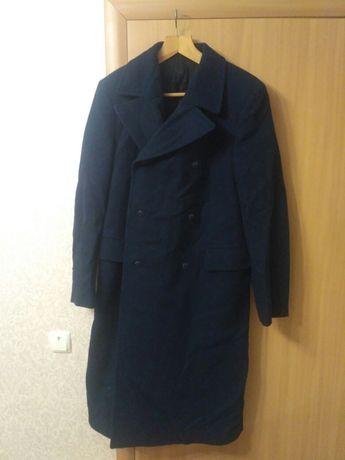 Шинель пальто синее форменное