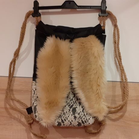 Plecak worek z uszami hand made
