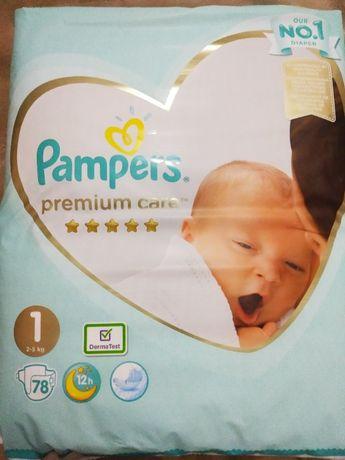 Памперсы Pampers premium care 1 (2-5 kg) 78 шт.