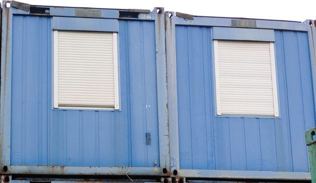 Kontener biurowy, socjalny 9m - zestaw 5 kontenerów + 1 kontener WC