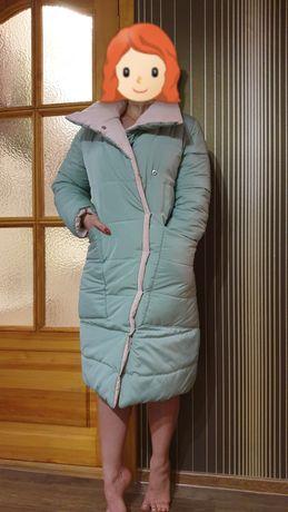 Женская двусторонняя куртка-пуховик , непромокаемая, теплая,oversize