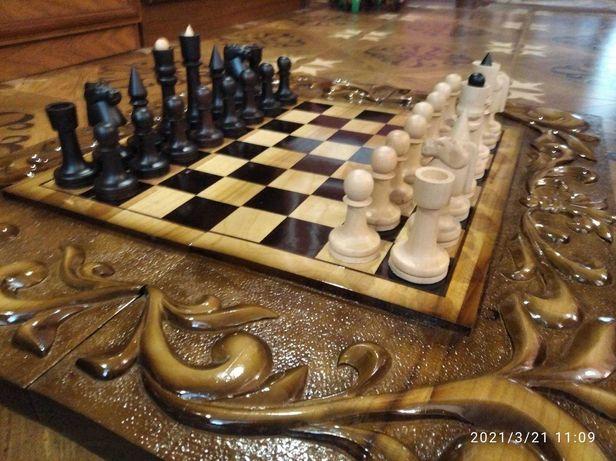 Шахматы-нарды ручная работа