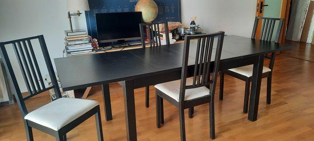 Mesa de jantar extensivel + 4 cadeiras