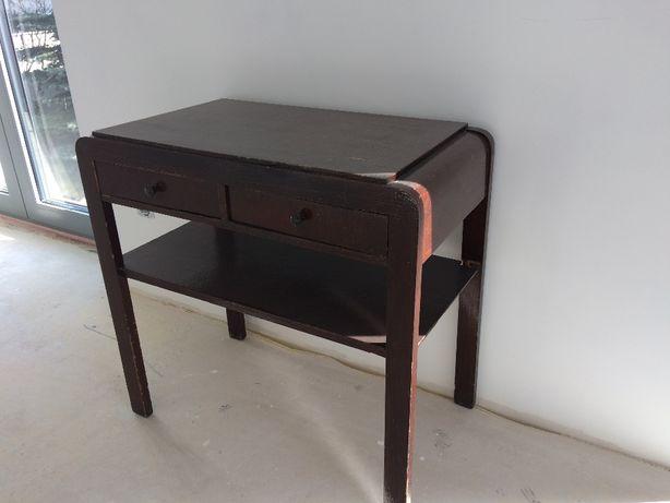 Drewniany stolik konsola pod radio typ 640 B z lat 50-tych, stan dobry