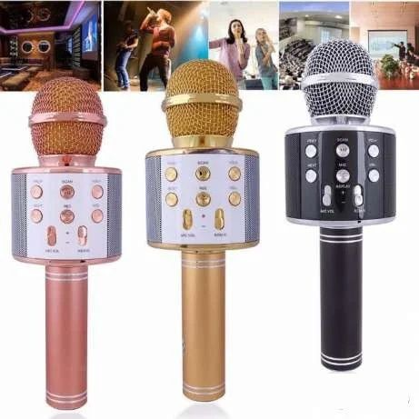 Беспроводной караоке микрофон,колонка, блютуз Wster WS-858 детский