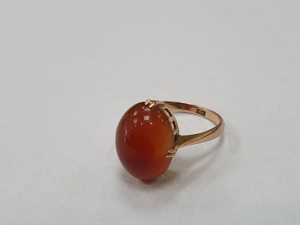 Przepiękny! Retro! Złoty pierścionek damski/ 585/ 4.5 gram/ R14/ Gdyni