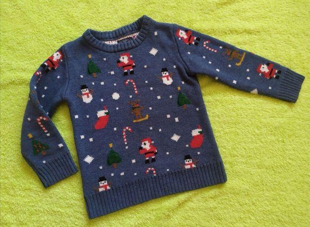 Новогодний свитер Next  на  рост 110см