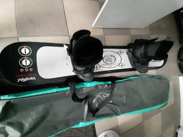 Snowboard komplet deska, miękkie wiązania, buty OKAZJA