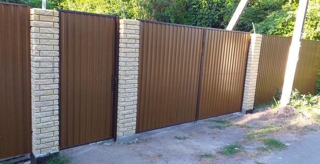 Забор из профнастила от 170 - 250грн.