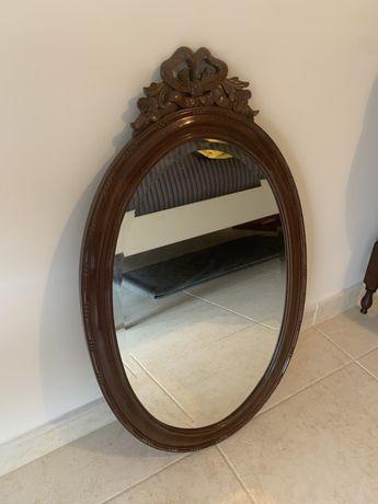 Espelho antigo mogno macico