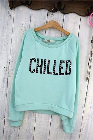 miętowa któtka bluza Free Chilled rozmiar s