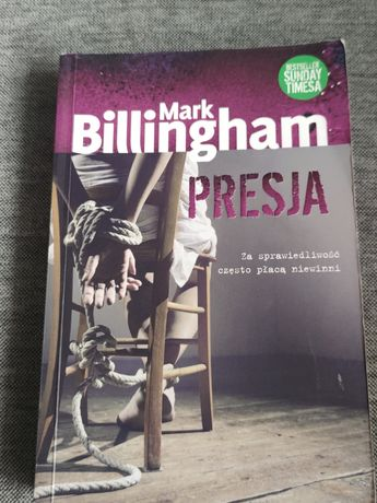 """Książka """"Presja"""" Mark Billingham"""