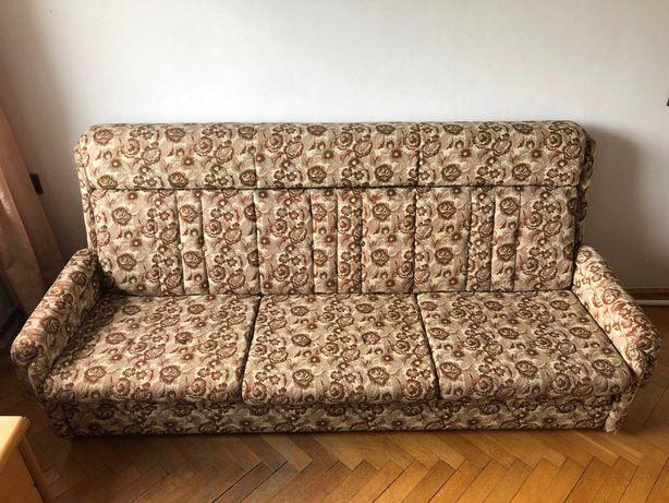 Komplet wypoczynkowy z rozkładaną sofą i 2 fotelami