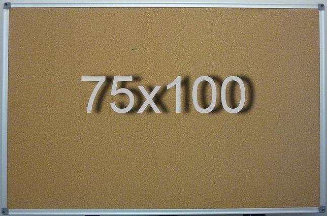 Пробковая доска 75х100 см