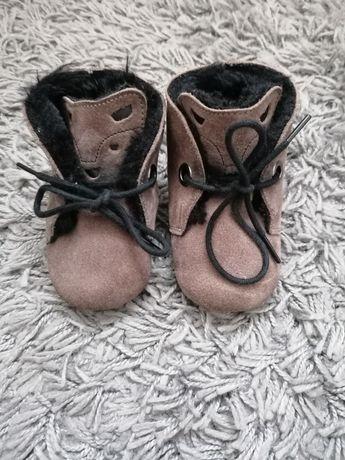 Skórzane buciki/kapcie Reserved