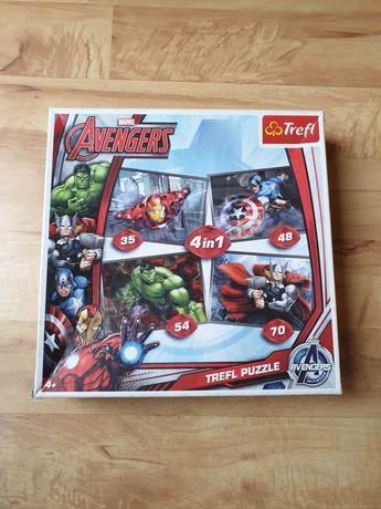 Trefl puzzle 4 w 1 Marvel Avengers wiek 4+
