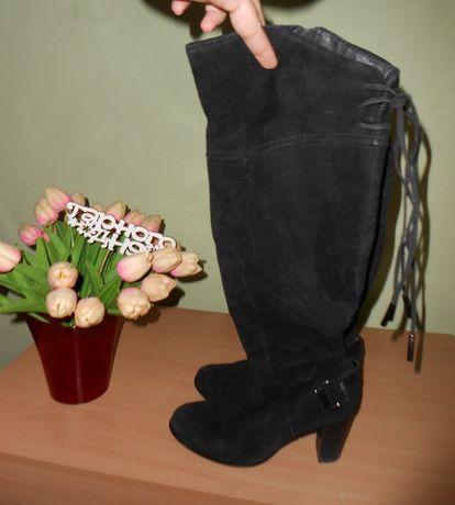 замшевые зимние сапоги 40-41 размер ботфорды ботфорты