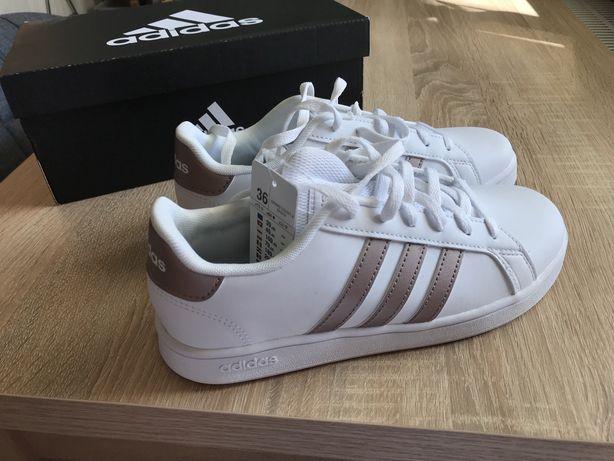 Sneakersy Buty sportowe białe damskie Adidas roz 36 NOWE orginalne