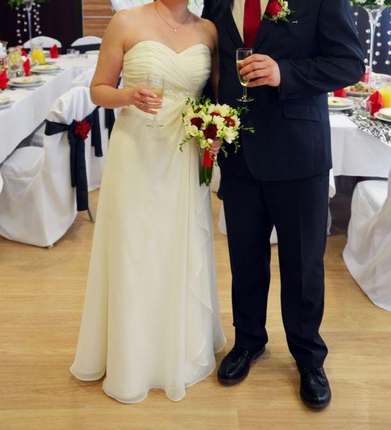 suknia ślubna, ecru, rozmiar 38, długa - pokrowiec i buty GRATIS! Polkowice - image 1