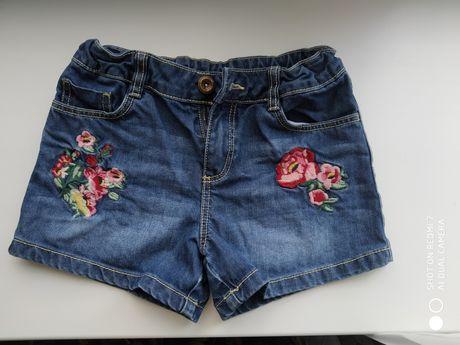 Джинсовые шорты для девочки 8-9 лет